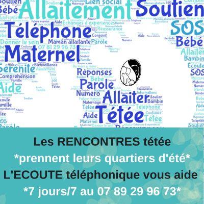 L'écoute téléphonique pour allaiter d'A Lait'coute : 07 89 29 96 73