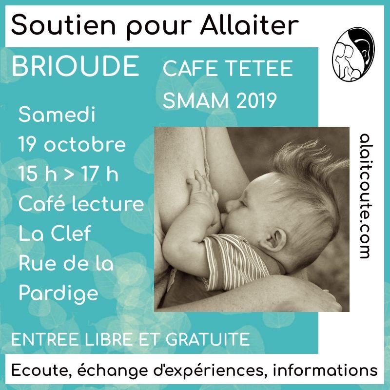 Visuel d'annonce de la rencontre autour de l'allaitement maternel animée par A Lait'coute à Brioude 43 : femme qui allaite son bébé