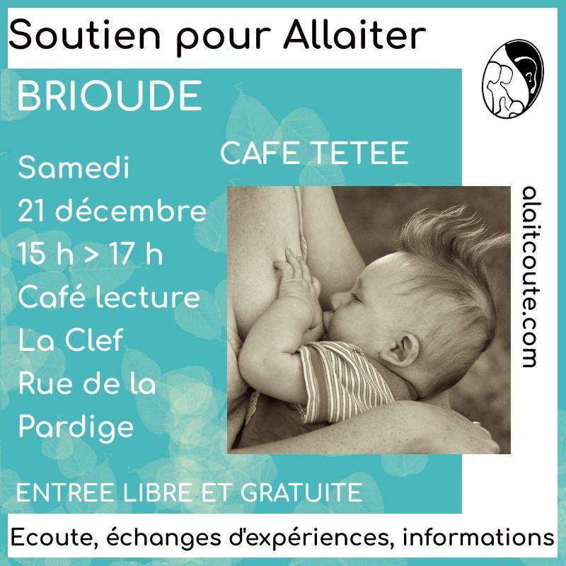 Visuel d'annonce de la rencontre de soutien autour de l'allaitement maternel de l'association A Lait'coute à Brioude le samedi 21 décembre 2019