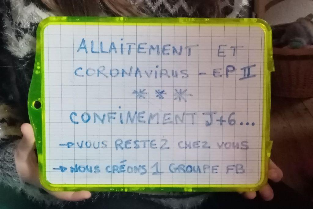 Visuel d'A Lait'coute sur le thème de l'allaitement maternel pendant l'épidémie du Coronavirus - épisode 2 : Aide pendant le confinement