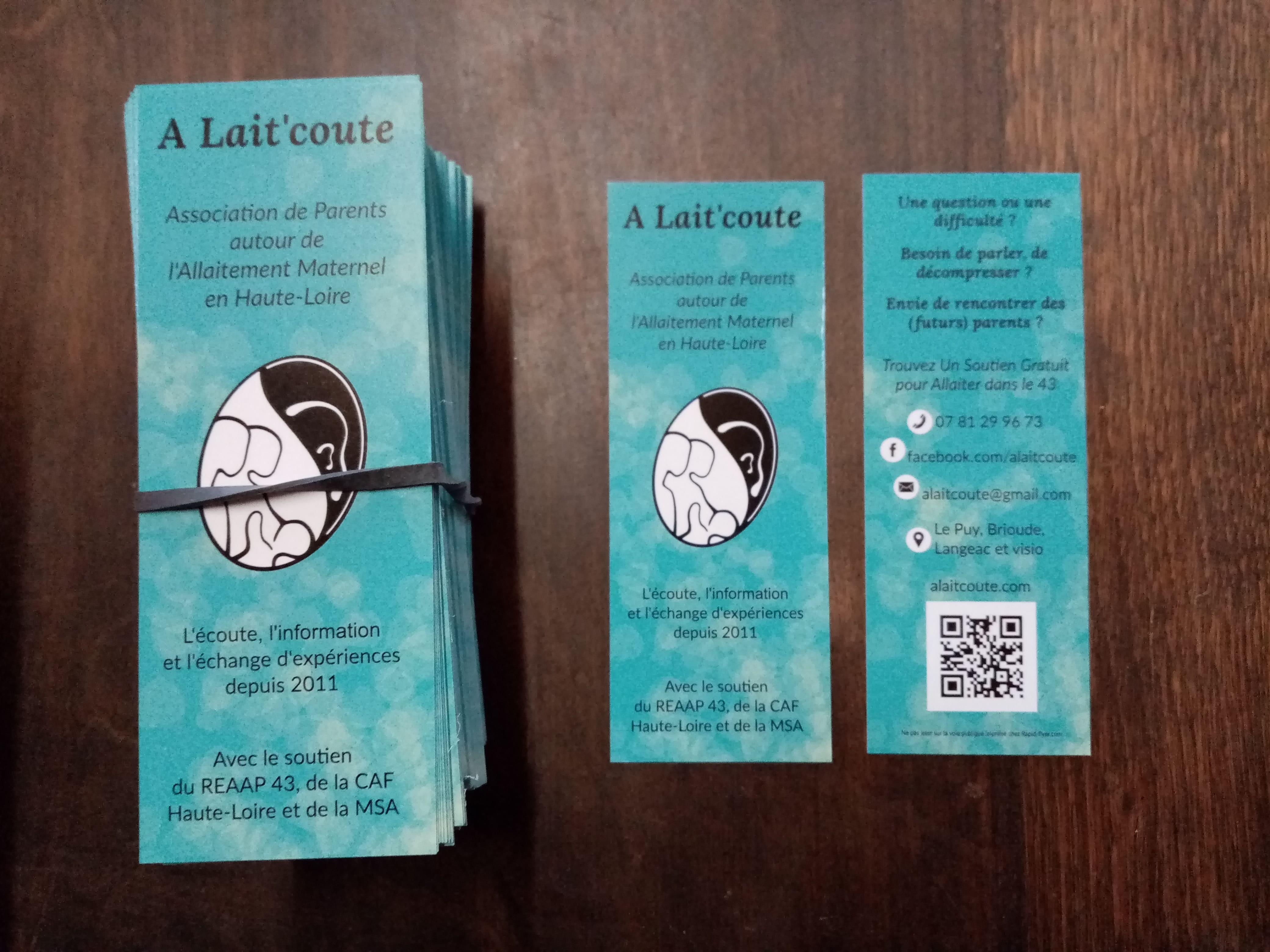 Le flyer d'A Lait'coute