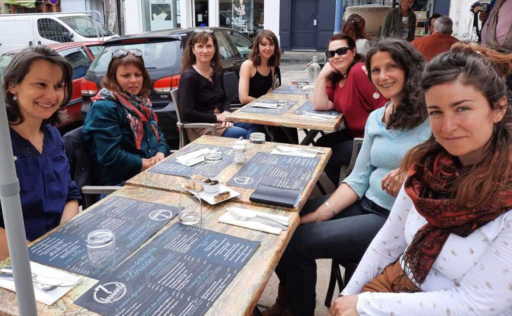 Les membres d e l'association A Lait'coute au Puy-en-Velay en juin 2021